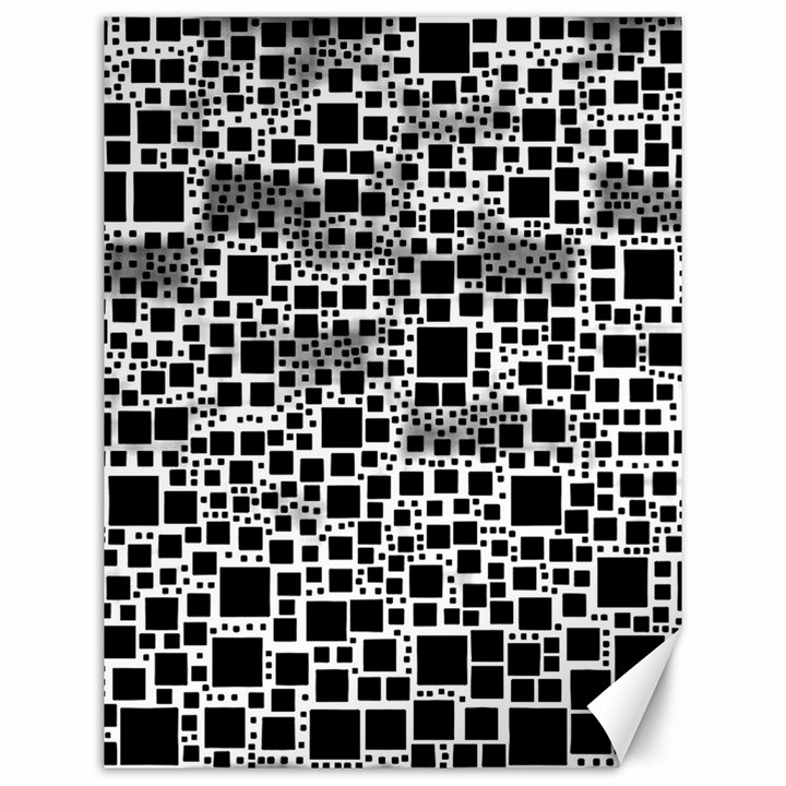 Block On Block, B&w Canvas 12  x 16