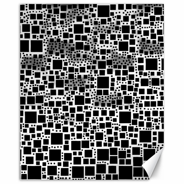 Block On Block, B&w Canvas 16  x 20