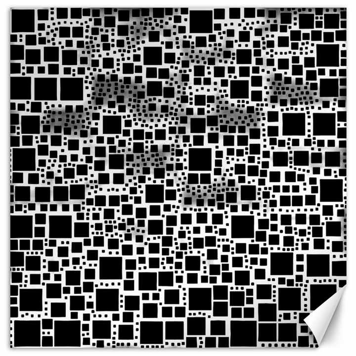 Block On Block, B&w Canvas 20  x 20