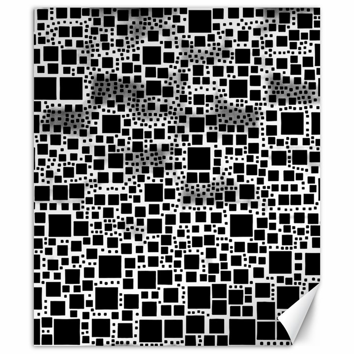 Block On Block, B&w Canvas 20  x 24