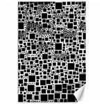 Block On Block, B&w Canvas 24  x 36  36 x24 Canvas - 1