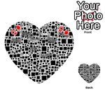 Block On Block, B&w Playing Cards 54 (Heart)  Front - DiamondQ