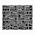 Block On Block, B&w Small Glasses Cloth (2-Side) Back