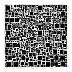 Block On Block, B&w Medium Glasses Cloth (2-Side) Front