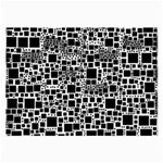 Block On Block, B&w Large Glasses Cloth Front