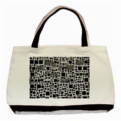 Block On Block, B&w Basic Tote Bag (Two Sides)