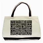 Block On Block, B&w Basic Tote Bag (Two Sides) Back