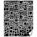Block On Block, B&w Canvas 11  x 14   14 x11 Canvas - 1