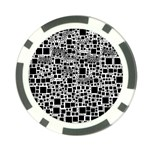 Block On Block, B&w Poker Chip Card Guards Front