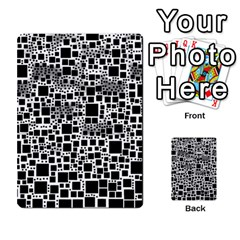 Block On Block, B&w Multi-purpose Cards (Rectangle)