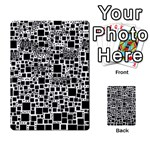 Block On Block, B&w Multi-purpose Cards (Rectangle)  Back 24
