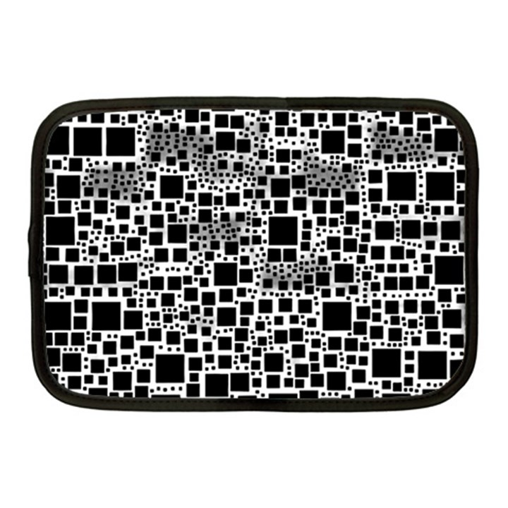 Block On Block, B&w Netbook Case (Medium)
