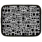 Block On Block, B&w Netbook Case (Large) Front