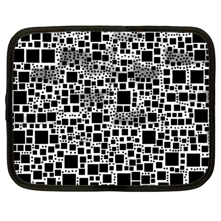 Block On Block, B&w Netbook Case (Large)
