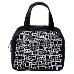 Block On Block, B&w Classic Handbags (One Side)