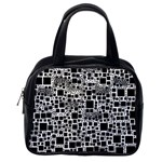 Block On Block, B&w Classic Handbags (One Side) Front