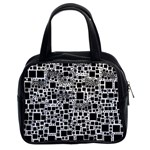 Block On Block, B&w Classic Handbags (2 Sides) Front