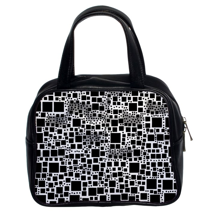 Block On Block, B&w Classic Handbags (2 Sides)