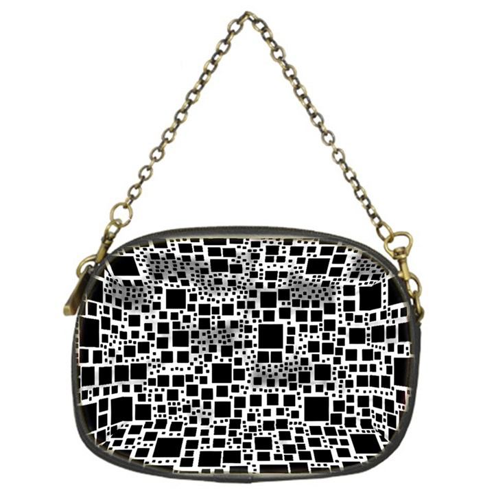 Block On Block, B&w Chain Purses (One Side)