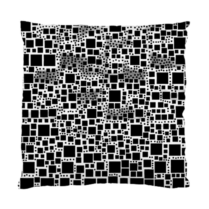Block On Block, B&w Standard Cushion Case (One Side)