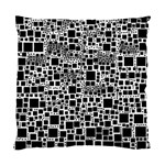 Block On Block, B&w Standard Cushion Case (Two Sides) Front