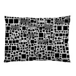 Block On Block, B&w Pillow Case 26.62 x18.9 Pillow Case