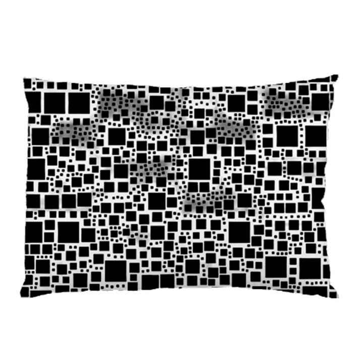 Block On Block, B&w Pillow Case