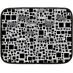 Block On Block, B&w Fleece Blanket (Mini)