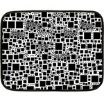 Block On Block, B&w Fleece Blanket (Mini) 35 x27 Blanket