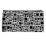Block On Block, B&w Pencil Cases Back
