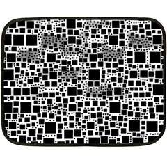 Block On Block, B&w Double Sided Fleece Blanket (mini)