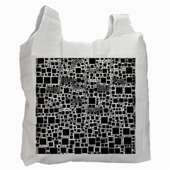 Block On Block, B&w Recycle Bag (one Side)