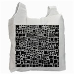 Block On Block, B&w Recycle Bag (One Side) Front