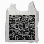 Block On Block, B&w Recycle Bag (Two Side)  Back
