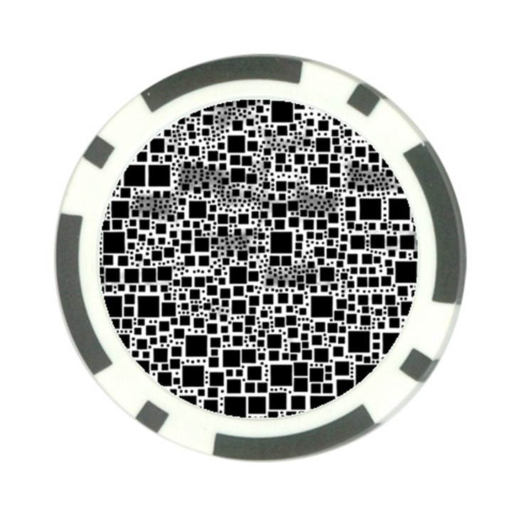 Block On Block, B&w Poker Chip Card Guards (10 pack)