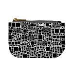 Block On Block, B&w Mini Coin Purses Front