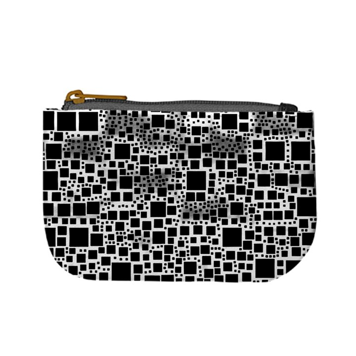 Block On Block, B&w Mini Coin Purses