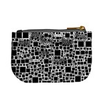 Block On Block, B&w Mini Coin Purses Back