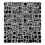 Block On Block, B&w Shower Curtain 66  x 72  (Large)  58.75 x64.8 Curtain