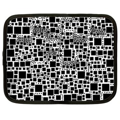 Block On Block, B&w Netbook Case (XXL)