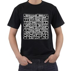 Block On Block, B&w Men s T Shirt (black)