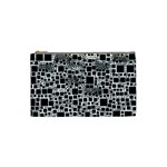 Block On Block, B&w Cosmetic Bag (Small)  Front