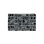 Block On Block, B&w Cosmetic Bag (Small)  Back