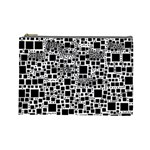 Block On Block, B&w Cosmetic Bag (Large)  Front