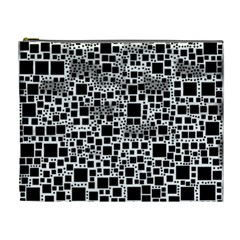Block On Block, B&w Cosmetic Bag (XL)