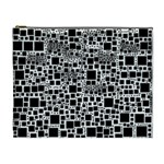 Block On Block, B&w Cosmetic Bag (XL) Front