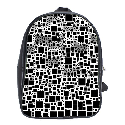 Block On Block, B&w School Bags(Large)