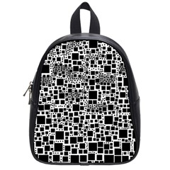 Block On Block, B&w School Bags (small)