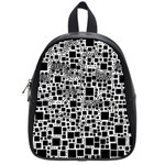 Block On Block, B&w School Bags (Small)  Front