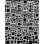 Block On Block, B&w Large Memo Pads 4.125 x5.5  Memopad